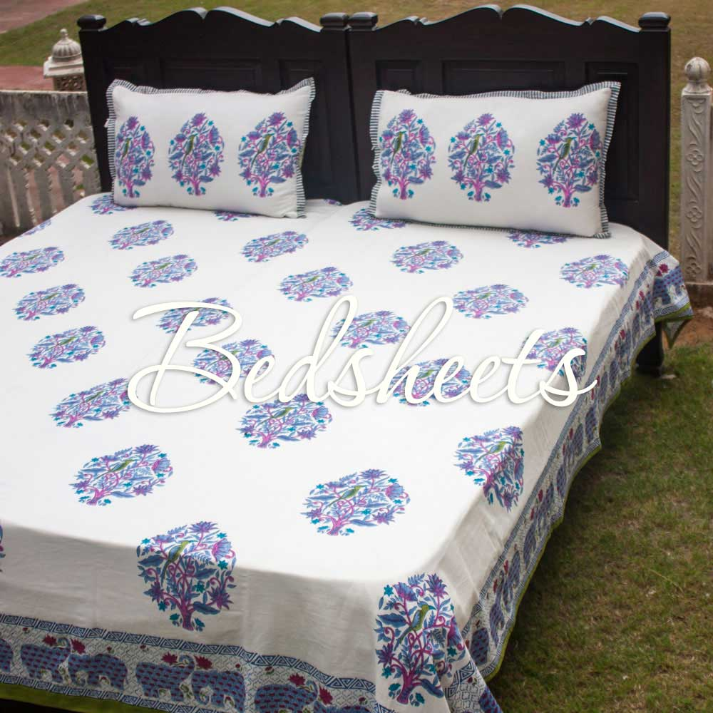 Cotton Bedsheets King Queen Single Double - Pinklay