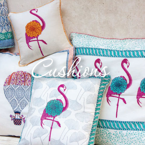 Hand Block Print Cotton Cushion Covers - Pinklay