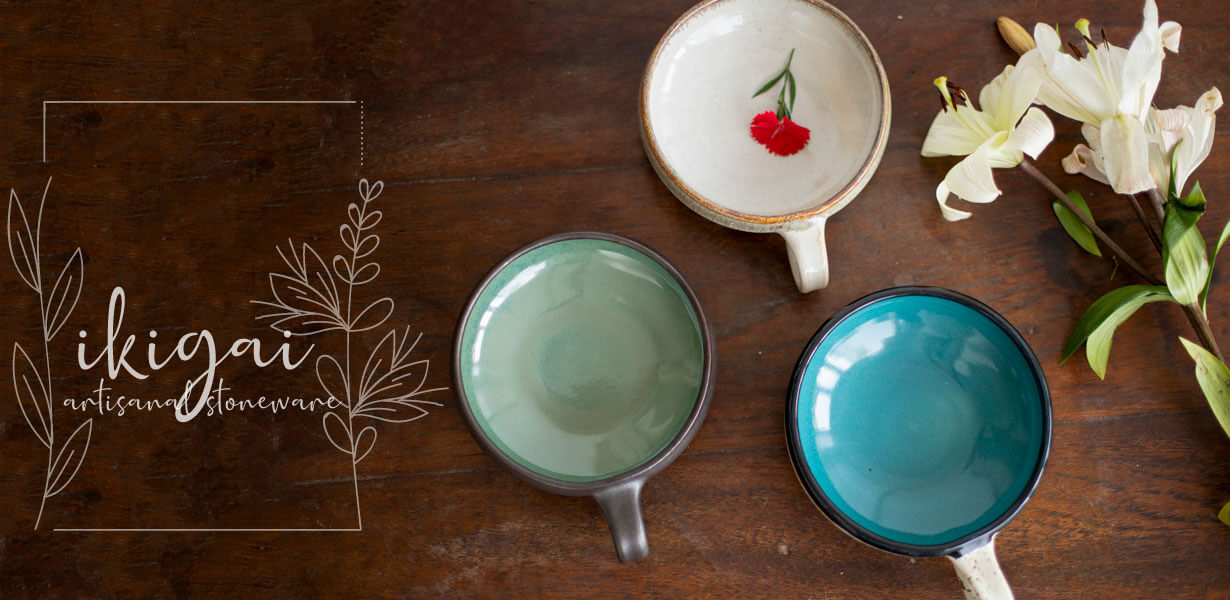 Hand-Thrown Handmade Ceramics Tableware Stoneware - Pinklay