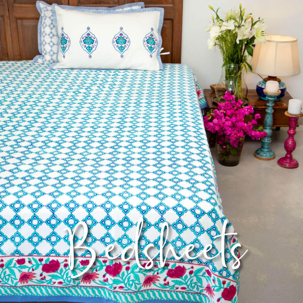 Cotton Bedsheet Premium Luxury King Queen Double Single - Pinklay