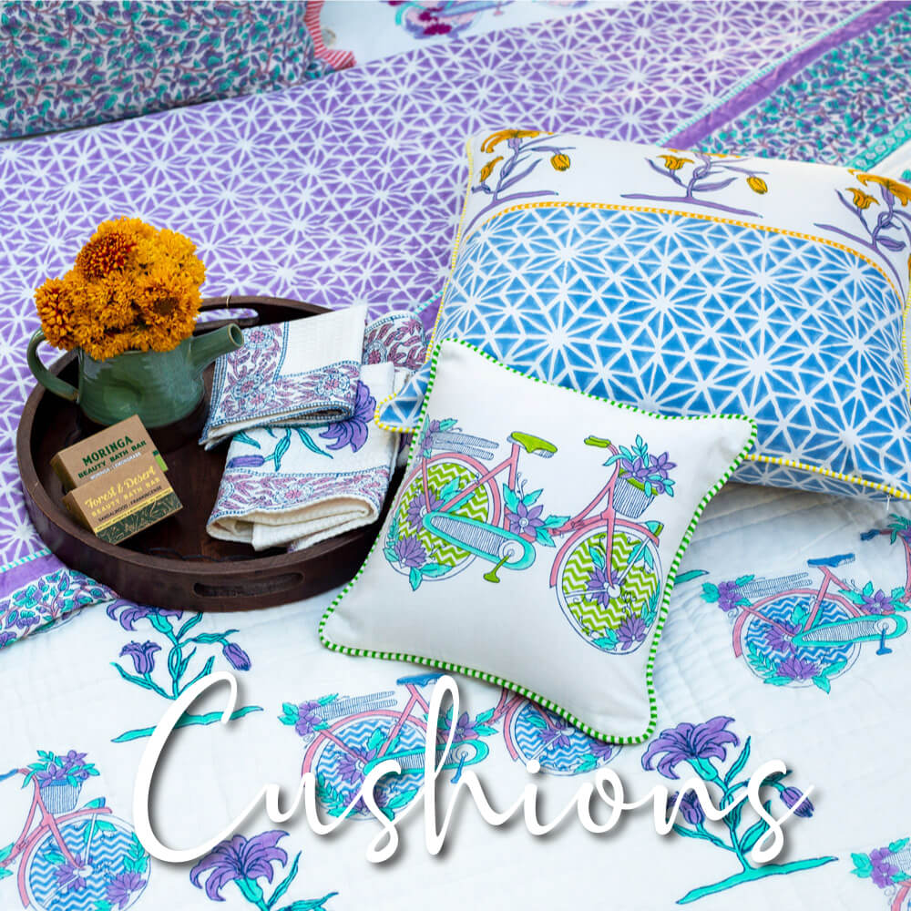 Cotton Cushion Covers - Pinklay