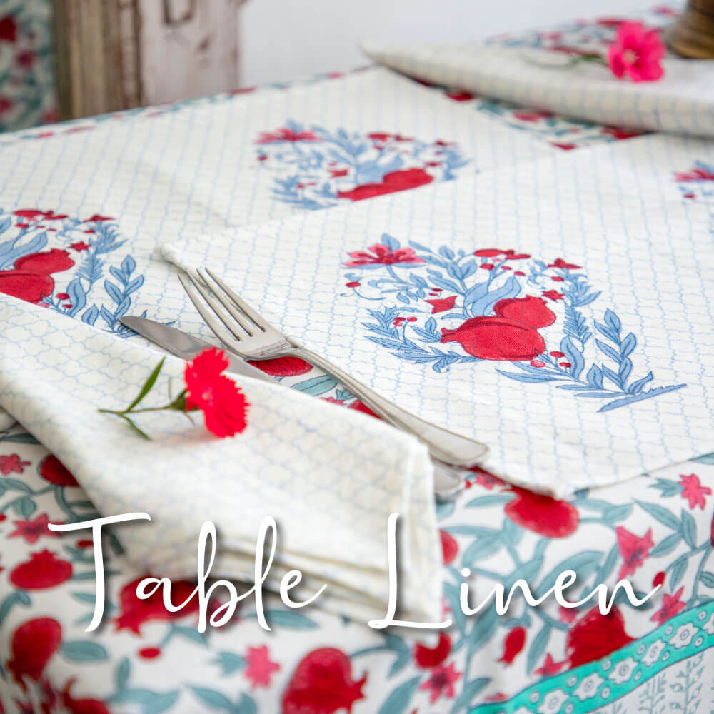 Table Cover Mats Runner Napkins Cotton - Pinklay