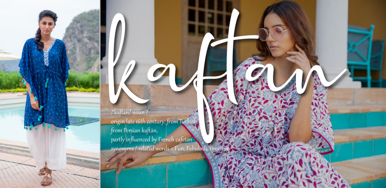 Women Cotton Kaftans Caftans - Pinklay