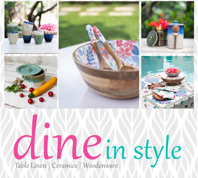 Wooden Ceramic Tableware Serveware - Pinklay
