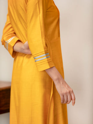 Seher Pintuck Long Silk Kurta