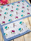 Lotus Jaal Hand Block Print Cotton Hand Towels - Set of 2 - Pinklay