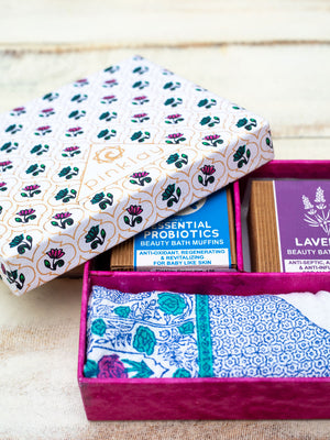Face Towels & Soaps Gift Box Set