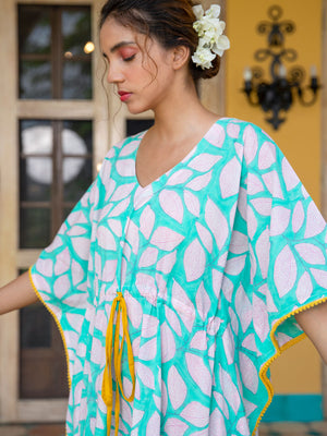 Beautiful Winter Hand Block Printed Kaftan - Pinklay