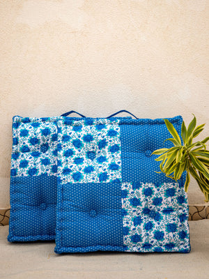 Blue Sea Fabric Floor Cushions - Pinklay