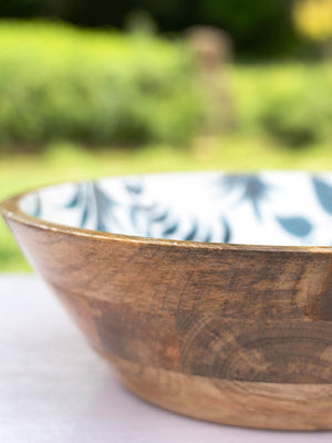 Butterfly Garden Extra Large Wooden Salad Bowl