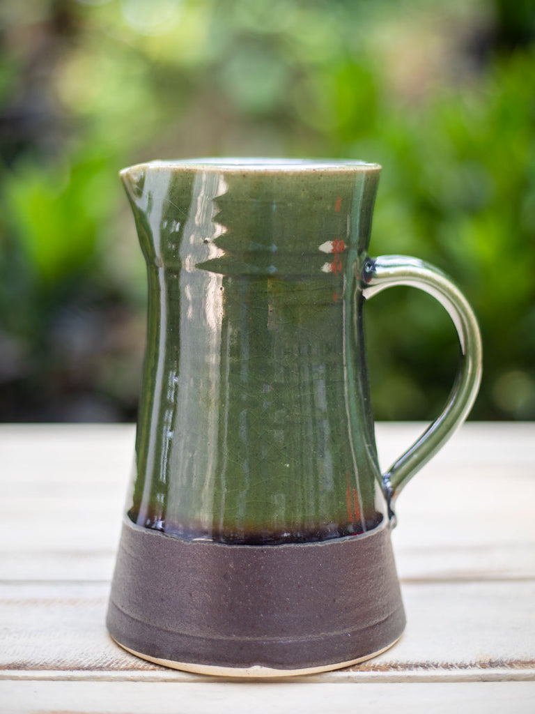 Emerald Hand-Thrown Ceramic Jug - Large - Pinklay