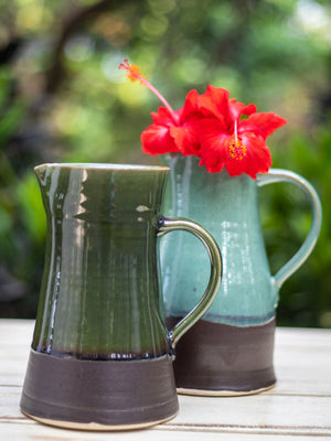 Turquoise Fall Hand-Thrown Ceramic Jug - Large - Pinklay