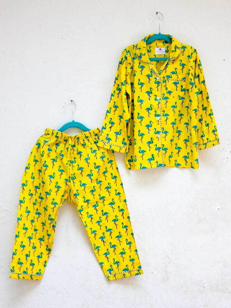 Flamingo Dance Organic Cotton Top & Pyjama Set Kids Clothing