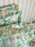 Floral Sea Fabric Floor Cushions - Pinklay