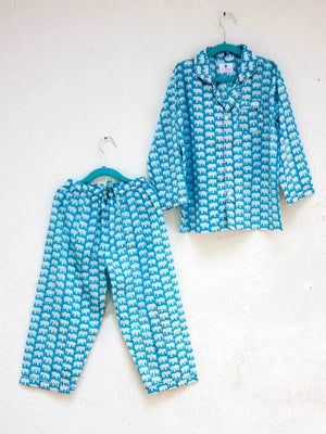 Haathi's March Organic Cotton Top & Pyjama Set - Pinklay