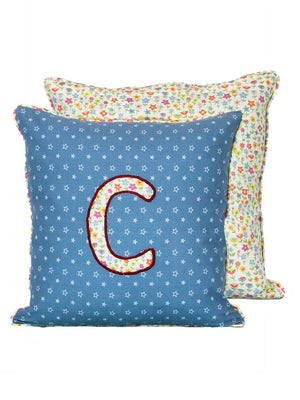 Letter C Cotton Alphabet Cushion Cover - 12 Inch - Pinklay