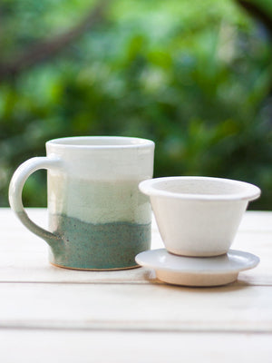 Misty Morning Hand-Thrown Ceramic Loose Leaf Tea Set