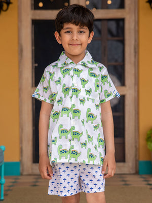 Dino Organic Cotton Shirt - Pinklay