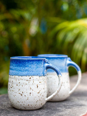 Blue Sea Speckled Coffee Mug - Pinklay