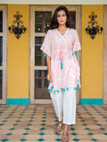 Indian Marigold Hand Printed Cotton Short Kaftan - Pinklay