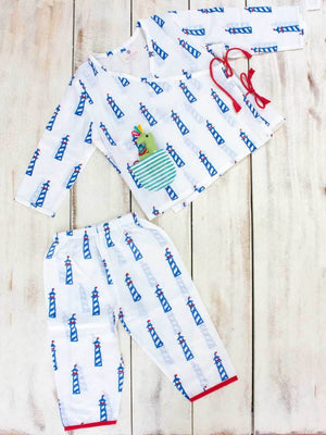 Lighthouse Magic Organic Cotton Angrakha Set - Pinklay