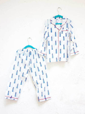Lighthouse Magic Organic Cotton Top & Pyjama Set - Pinklay