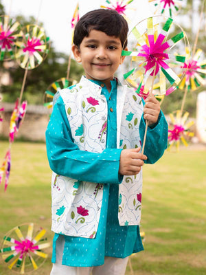 Samar Kurta Pajama Jacket Set of 3 - Pinklay