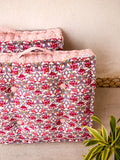 Meadow Blush Fabric Floor Cushions -Pinklay