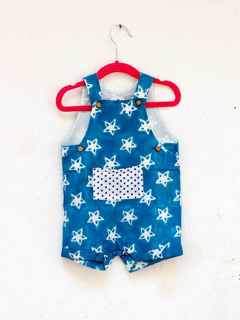 Midnight Star Organic Cotton Dungarees - Pinklay
