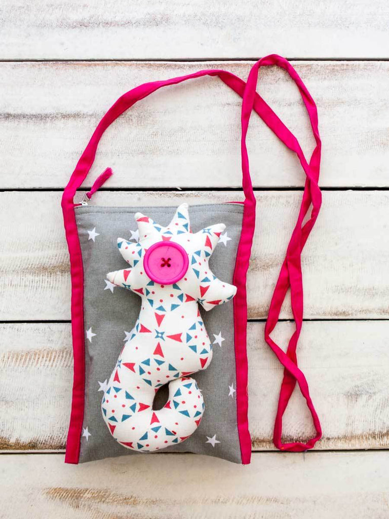 Pearl the Seahorse Kids Cotton Sling Bag Kids Gifts & Decor