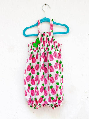 Pineapple Crush Organic Cotton Romper - Pinklay