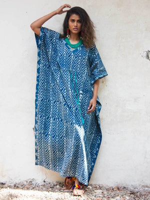 Amour Daabu Printed Cotton Kaftan - Pinklay