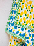 Ananas GOTS Certified Organic Cotton Reversible Dohar Blanket - 0-2 Yrs - Pinklay