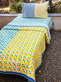 Ananas Cotton Single Bedsheet Set - Pinklay