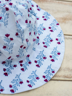 Spring Bloom Organic Cotton Hat - Pinklay