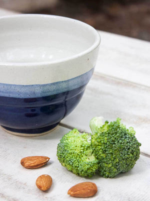 Three Indigo Deep Soup Bowl - Pinklay