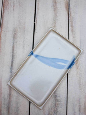Classical White Rectangle Tray Platter Ceramics