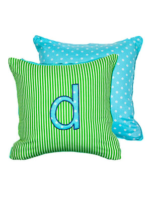 Letter D Cotton Alphabet Cushion Cover - 12 Inch - Pinklay