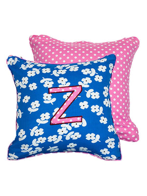 Letter Z Cotton Alphabet Cushion Cover - 12 Inch - Pinklay