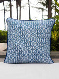 Indigo Hand Block Print Double Side Printed Cotton Cushion Cover - 12 Inch Cushions