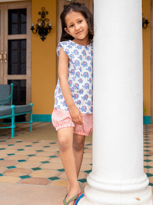 Appu Organic Cotton Top & Shorts Set - Pinklay