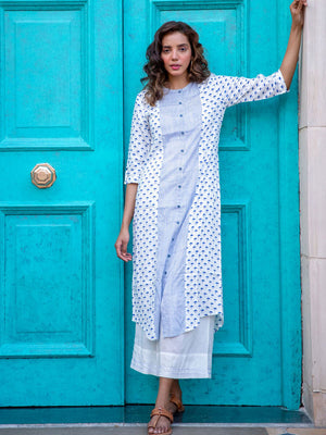 First Rain Modal Silk Three Paneled Long Shirt Dress