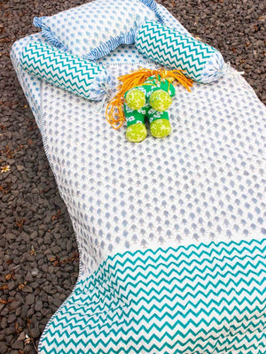 Little Fishie GOTS Certified Organic Cotton Cot Bedding Set of 6 New Kids Collection