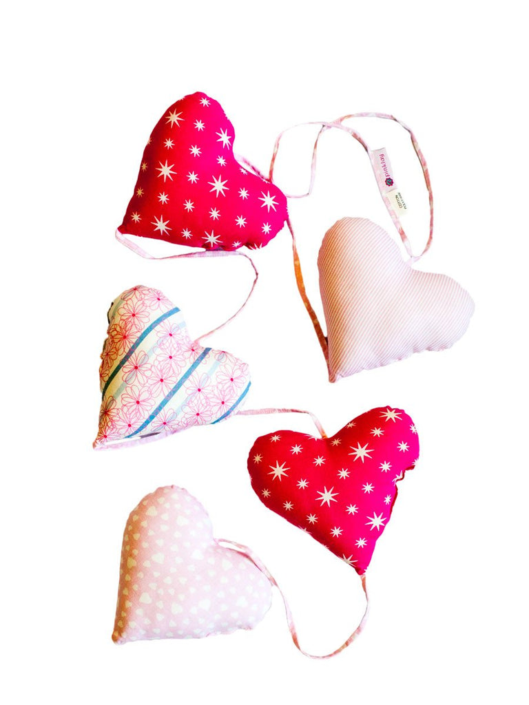 Five Heart Hanging Kids Room Decor - Pinklay