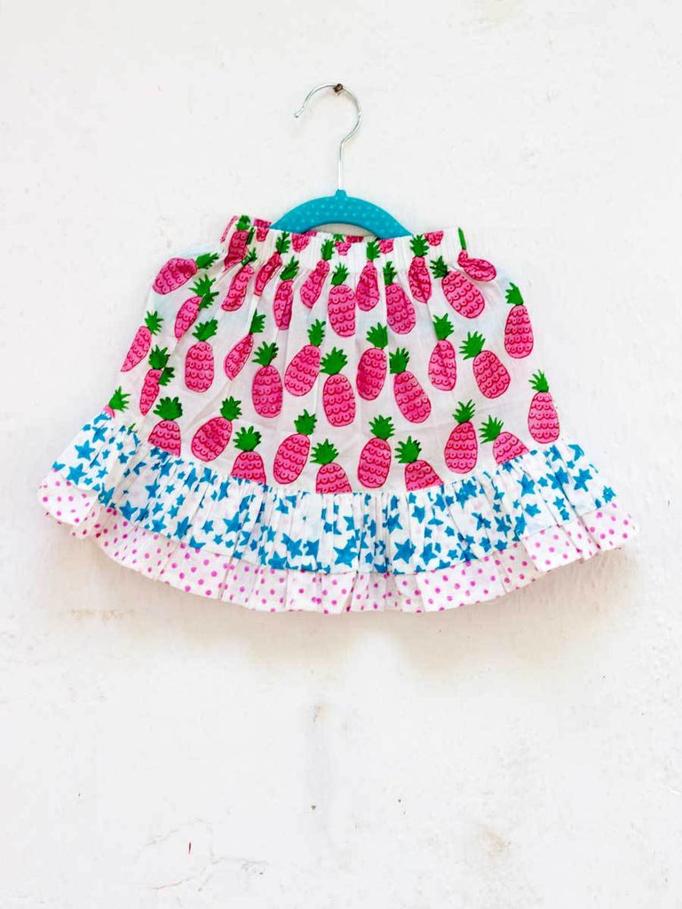 Ananaas Double Layered Organic Cotton Skirt Kids Clothing