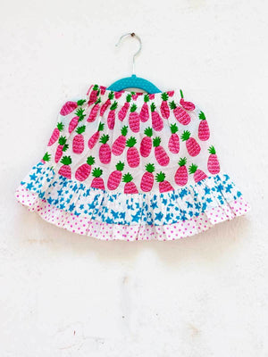 Ananaas Double Layered Organic Cotton Skirt - Pinklay