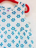 Starry Night Organic Cotton Dress with a Pocket - Pinklay