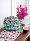 Fruits of Paradise Hand Block Print Cotton Quilted Tea Cozy - Pinklay
