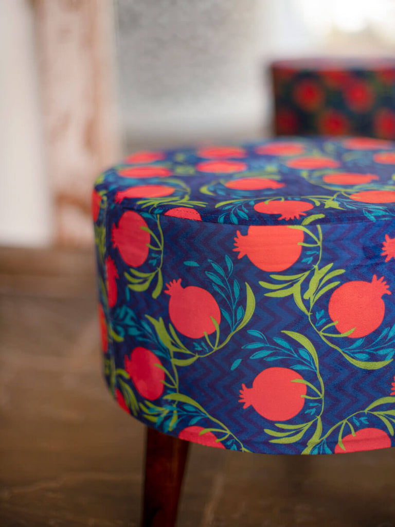 Fruits of Paradise Upholstered Ottoman - Pinklay