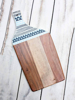 Tribal Angular Wooden Platter / Chopping Board Wooden Tableware
